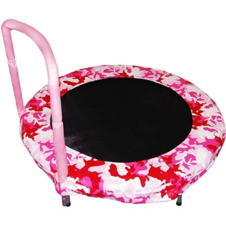 Trampoline 4' Bouncer for Kids by Jumpking (Pink Camo)