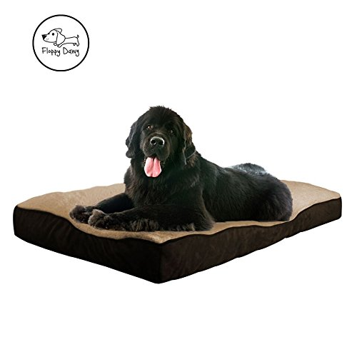 rge Dog Bed with Removable Cover and Waterproof Liner | Stuffed To 8 Inches High with Memory Foam Pieces To Accommodate the Natural Digging Instinct | For XL Dogs 80 Pounds and Up ()