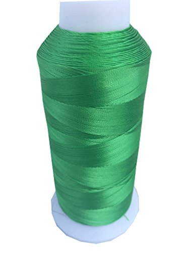 UV Resistant Polyester Thread for Outdoor Leather Upholstered ITEM4EVER Brand (Medium, Lime-green) ()