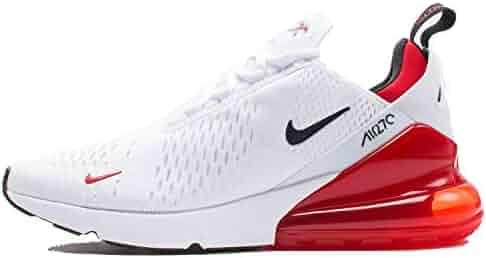 low priced af5db 159fb NIKE Air Max 270 - Mens WhiteBlackUniversity Red Nylon Basketball Shoes