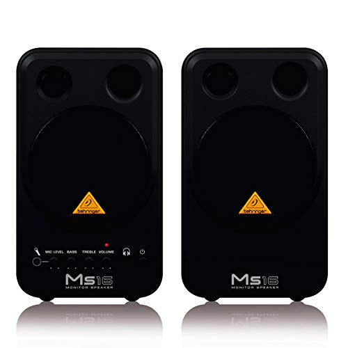 (Behringer MS16 High-Performance Active 16-Watt Personal Monitor System)