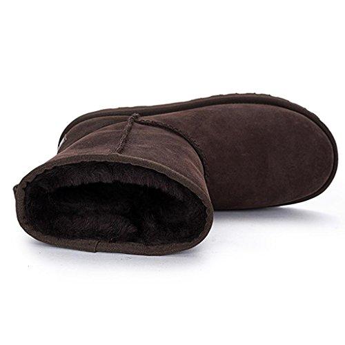 en Femelle Le de Chaussures Coton Femmes Hiver dans Neige Neige Tube Brown aux Bottes XP4wq0