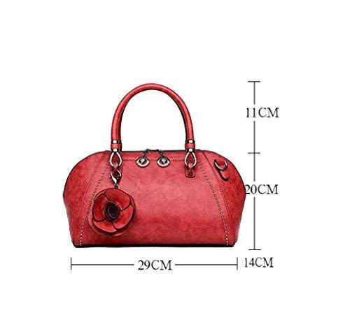 Tamaño Las De Tamaño Un Albóndigas Rojo Estilo Señoras Marea Portátil Moda Eeayyygch Bolso Rosado color Del La Retro Bolsos Paquete gqx05a