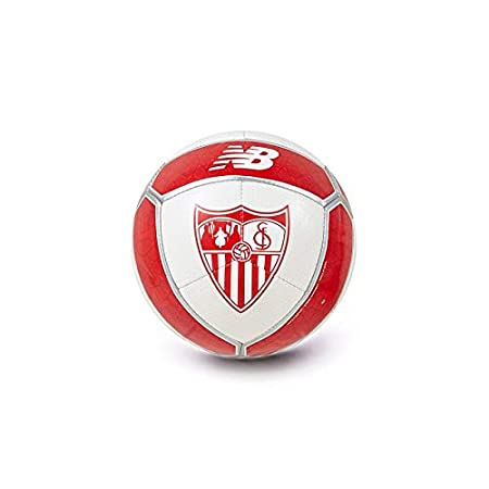 New Balance Mini Sevilla FC 2017-2018, Balón, Blanco-Rojo: Amazon ...