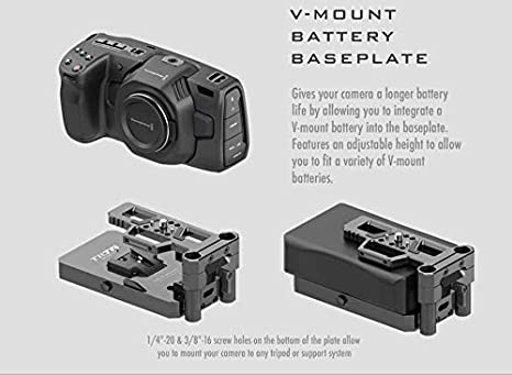 F970 Battery Baseplate TILTA TA-BSP-F970 F970 Battery Baseplate For BMPCC 4K Cage Blackmagic Pocket Cinema Camera 4K Rig
