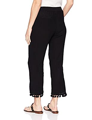 Michael Stars Women's Double Gauze Pull On Pant With Tassels