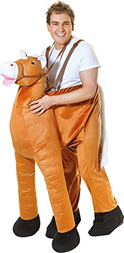 Unisex Fancy Dress Animals Party Horse Step In Riding Pantomime Mascot Outfit