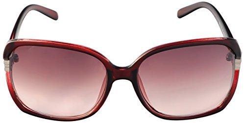 SoMuchSun Oversized Low Nose Bridge Sunglasses (Kiley 8612) (Red Gloss, - Bridge Low Sunglasses