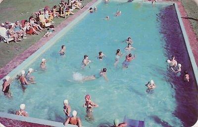 F7996 MA, S. Lee Oak N' Spruce Lodge Pool Postcard