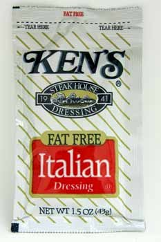 Kens Fat Free Italian Dressing (Pack Of 120)