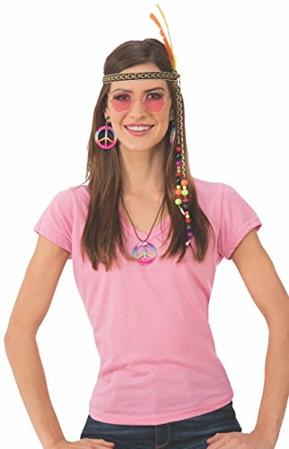 Rubie's Women's Deluxe Adult Accessory Kit, Hippie Female, One Size -