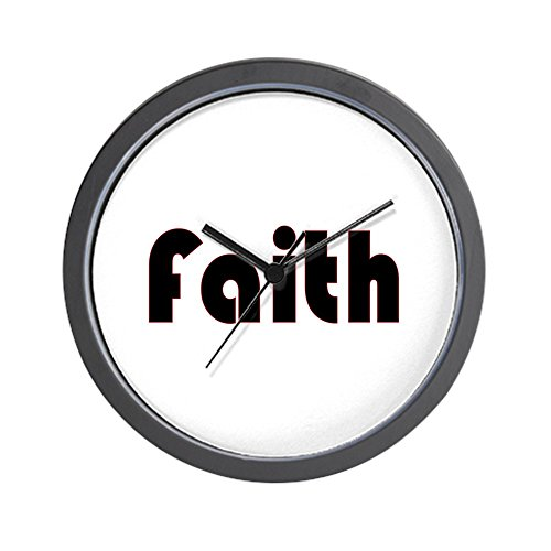 CafePress - Faith Wall Clock - Unique Decorative 10'' Wall Clock by CafePress