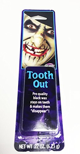 Black Tooth Wax Tooth Black Out Witch Halloween Pirate Bad Teeth Paint Putty by Bristol (Bad Teeth Halloween)