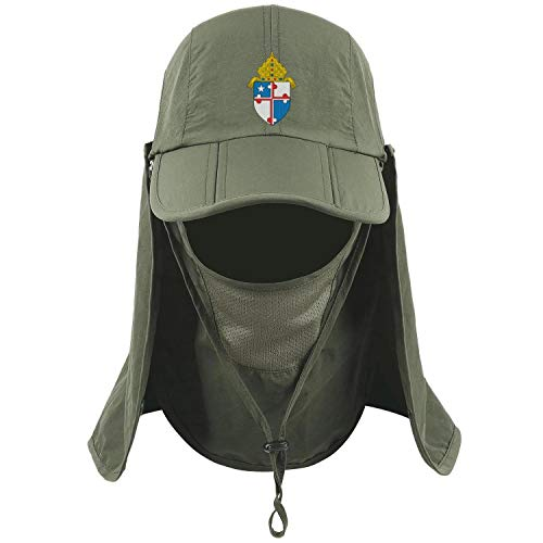 LuMaGG Maryland Roman Catholic Outdoor Sun Cap Breathable Fishing Hat Protection with Removable Face Neck Flap for Men & Women