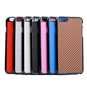 TOPQQ Ultrathin Fashion Carbon Fiber Pattern TPU and PC Case for iPhone 6 Plus (Assorted Colors) , Brown