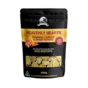 Treat Hunters · Pumpkin, Carrot and Sweet Potato Dog Biscuit Treats · Gluten-Free · Lactose-Free · Heavenly Heart Shaped… Click on image for further info.