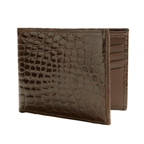 Trafalgar in Double Alligator 8 Wallet Alligator Billfold Trafalgar Colors Brown 4avnpCd