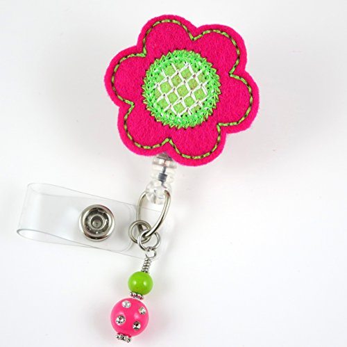 Spring Flower - Nurse Badge Reel - Retractable ID Badge Holder - Nurse Badge - Badge Clip - Badge Reels - Pediatric - RN - Name Badge Holder