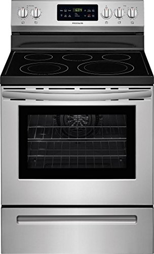 (Frigidaire FFEF3056TS 30 Inch Freestanding Electric Range with 5 Elements, Smoothtop Cooktop, 5.4 cu. ft. Primary Oven Capacity, in Stainless Steel)