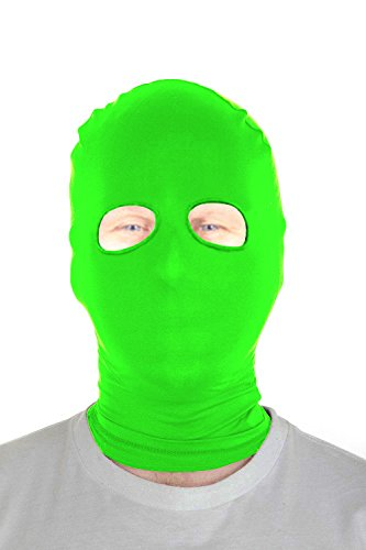 Marvoll Lycra Spandex Eyes Holes Hood Mask Halloween Costumes (Kids, Lime (Dance Costumes Competition Sale)