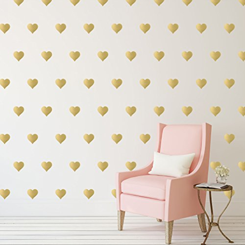 Border Stick On - Gold Hearts Wall Decals (3
