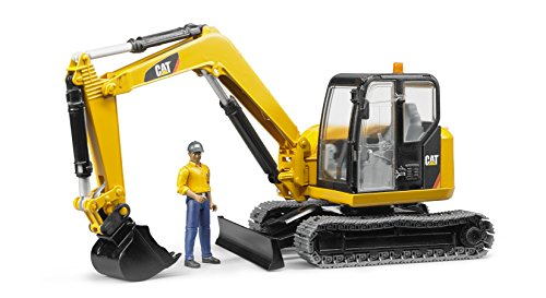 Bruder Toys CAT Mini Excavator with Worker Vehicle