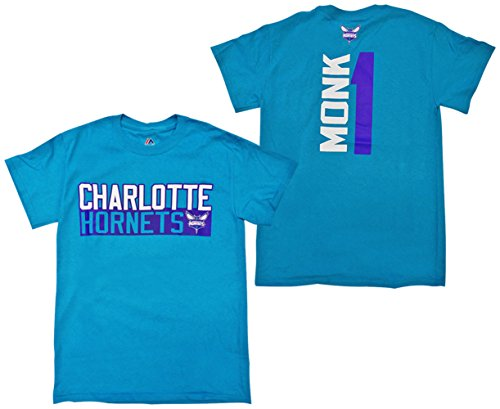 - Malik Monk Charlotte Hornets Teal Vertical Name and Number Player T-shirt XX-Large