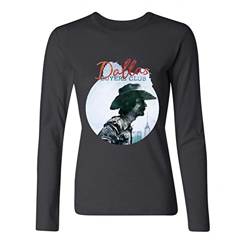 IIOPLO Women's Dallas Buyers Club Long Sleeve T-shirt Black XXL