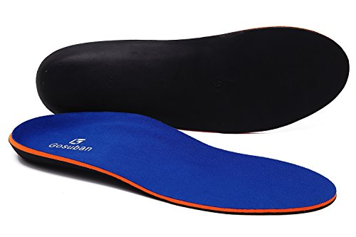 Gosuban Maximum Cushion Orthotic Insoles for Flat Feet,Arch Support Shoe Inserts Against Plantar Fasciitis,Overpronation (Mens 13-13.5, Blue)