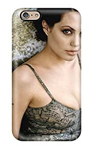 MMZ DIY PHONE CASEDJgawsr2545DqyYz Tpu Phone Case With Fashionable Look For Iphone 6 - Angelina Jolie High Definition