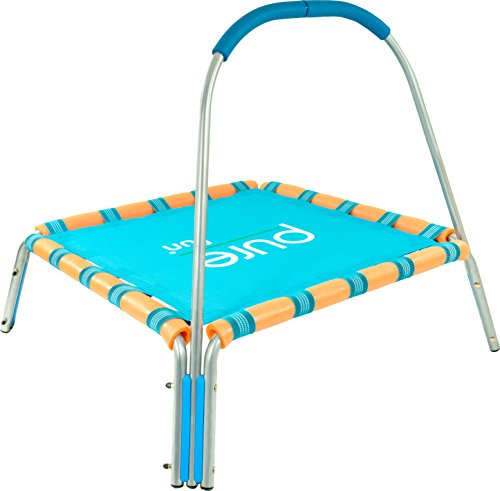 "Pure Fun Kids Jumper: 36"" Mini Trampoline with Handrail, Youth Ages 3 to 7"