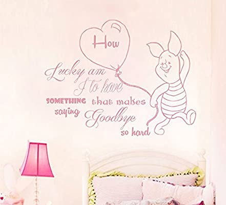 Winnie The Pooh Wall Decal How Lucky Am I To Have Something That