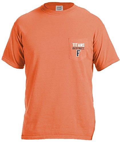 NCAA Cal State Fullerton Titans Baseball Frame Short Sleeve Pocket T-Shirt, - Pocket Shirt Titan