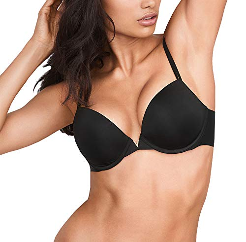 (Victorias Secrets Sexy Illusions Black Lightly Lined Plunge Bra 36)