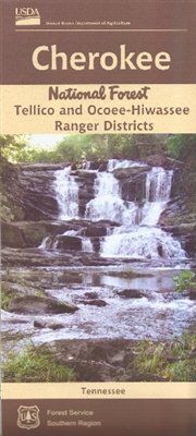 Tellico and Ocoee-Hiwassee Ranger Districts Map, Cherokee National Forest, Tennessee