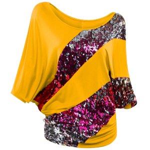 Poem&Future - Camisas - Cuello redondo - para mujer amarillo