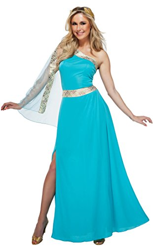 Goddessey 81015-L The Blue Goddess Costume, Large - Blue Toga Costumes For Women