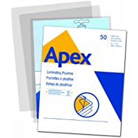 Apex Standard Laminating Pouches, Letter Size for 3 Mil Setting, 50 Pack (5242701)