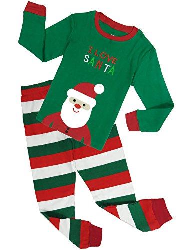 Babypajama Little Boys Santa Claus Christmas Cotton Long Sleeve Pajamas Set 6 Years