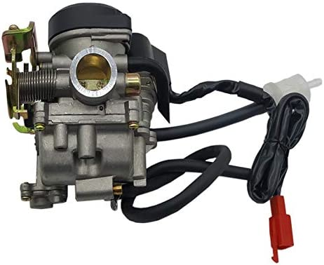 Carburador 20mm Big Bore Carb CVK motocicleta carburador for el chino GY6 50cc 60cc 80cc 100cc 139QMB 139QMA ciclomotor scooter vehículo todo terreno de Go-Kart Partes Del Motor ( Color : PD20J )