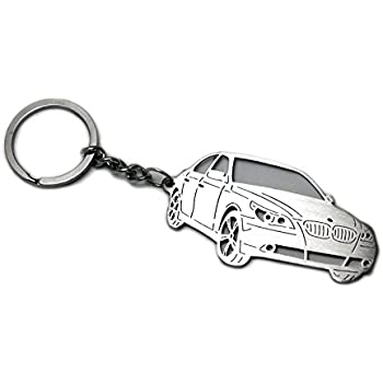 Stainless Steel Keychain suitable for BMW 5-Serie E60 2003-2010 M5 Laser Cut