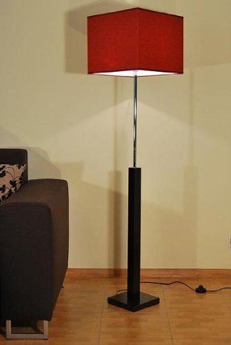 Kaiser-Handel Designer Stehlampe Standlampe Säulen Leuchte Retro Lampe Design Küche Büro Dubai 9 (Standfußfarbe  Wenge)