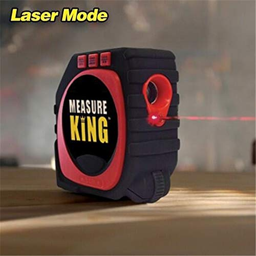 (1 piece Precise Measure King 3-in-1 Digital Tape Measure String Laser Mode Sonic Mode Roller Mode Universal Measuring Tool)