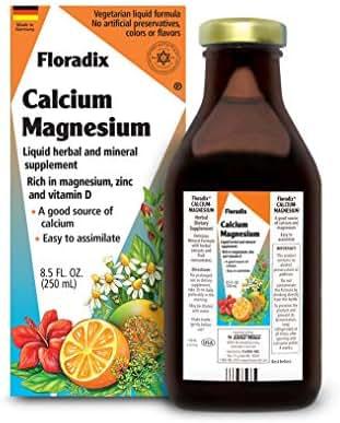 Salus Haus Floradix Liquid Calcium & Magnesium 8.5 Oz SMALL - Natural Vitamins Formula - Support for strong bones - Non GMO, Gluten Free, Vegetarian.