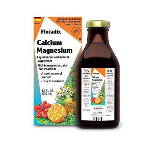 - Salus Haus Floradix Liquid Calcium & Magnesium 8.5 Oz SMALL - Natural Vitamins Formula - Support for strong bones - Non GMO, Gluten Free, Vegetarian.