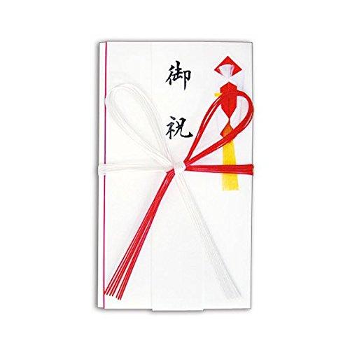 生活日用品 (まとめ買い) 赤白7本 花結 金封 高級和紙 短冊付 No.2653 1セット(10枚) 【×3セット】 B074JT1WYL