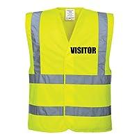 60 Second Makeover Limited Hi Viz Yellow Vis Vests Visitor Safety High Visibility Building Site Workwear Large