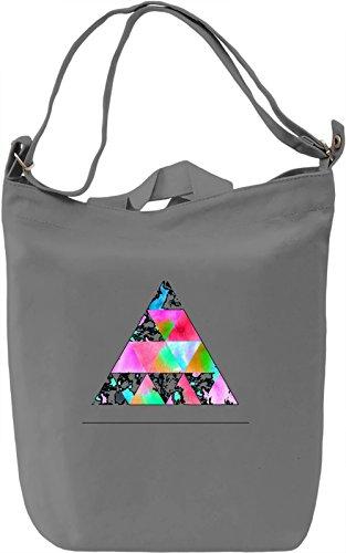 Colorful Triangle Borsa Giornaliera Canvas Canvas Day Bag| 100% Premium Cotton Canvas| DTG Printing|