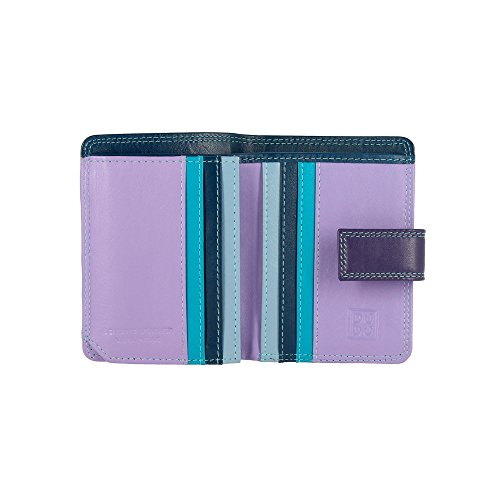 DUDU Small Woman Wallet in Multicolor Nappa Leather Credit Card Mauve