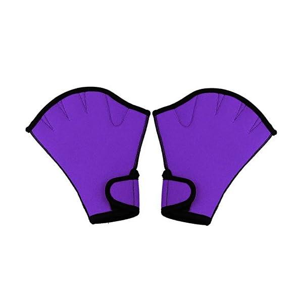 Queenback 1 Coppia Nuoto Guanti Acquatica Fitness Resistenza All'Acqua Aqua Fit Racchettone Allenamento Guanti senza… 6 spesavip